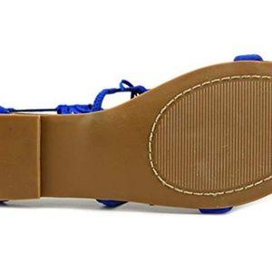 Steve Madden Shoes - Steve Madden Favorit Blue Gladiator Sandal, 7.5M